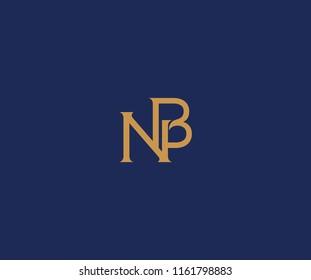 NB letter type style linked logo design
