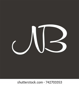 NB logo initial letter design template vector
