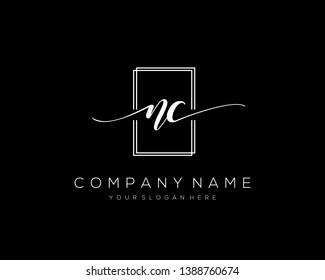 NC handwriting initial  logo vector