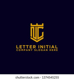 NC letters Initial icons / Monogram.- Vector inspiration logo design - Vector