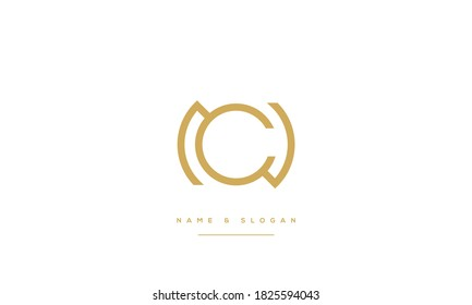 NC,CN ,N ,C  abstract Letters Logo Monogram