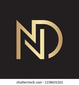 ND letter logo design vector