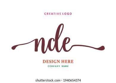 NDE lettering logo is simple, easy to understand and authoritative