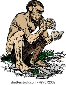 Neanderthal man (Homo sapiens neanderthalensis).