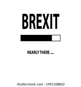 """Nearly There Illustration """"Brexit"""" Design. Vector"""