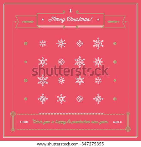 Neat corporate greeting christmas card motivating stock vector neat corporate greeting christmas card motivating pictogram card for business partners clients colleagues m4hsunfo