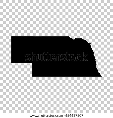 Free Nebraska Map.Nebraska Map Isolated On Transparent Background Stock Vector