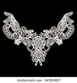 Neck lace print for fashion and other uses in vector