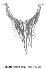 Necklace,embellishment artwork,in vector