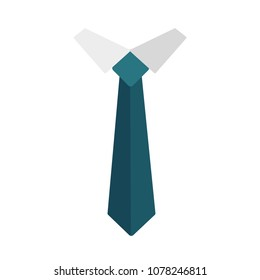 Necktie icon isolated on white background. Colored tie for men. Vector illustration