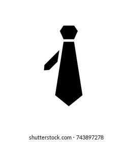 Necktie icon, Necktie icon vector, in trendy flat style isolated on white background. Necktie icon image, Necktie icon illustration