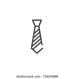 Necktie line icon, outline vector sign, linear style pictogram isolated on white. Symbol, logo illustration. Editable stroke