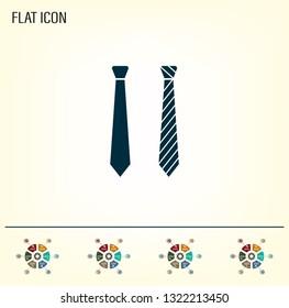 Necktie vector icon
