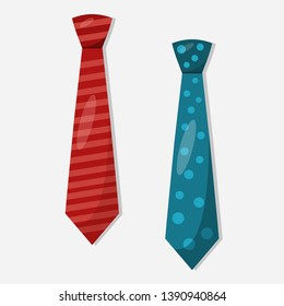 necktie vector illustration on white background