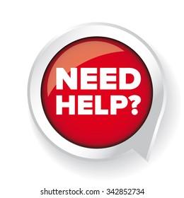 Need help? Vector button