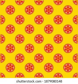 needle flower pattern on a gold background