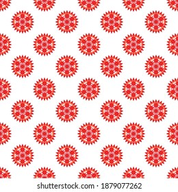 needle flower pattern on a white background