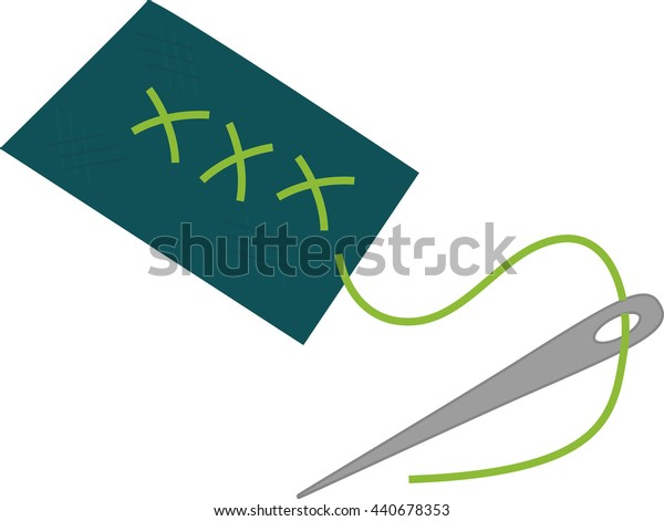 needle icon. Tailor and Sewing. Vector graphic