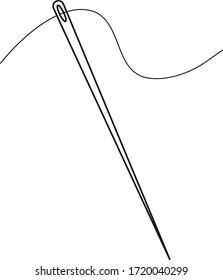 Needle icon vector isolate on white background