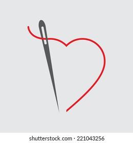 needle with thread icon