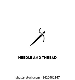 needle and thread icon vector. needle and thread sign on white background. needle and thread icon for web and app