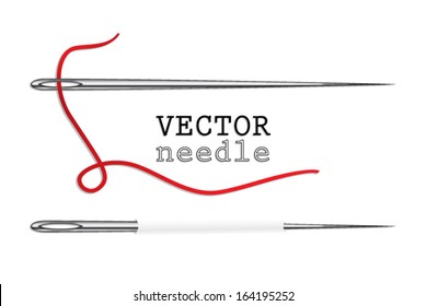 needle with thread / vector illustration eps 10