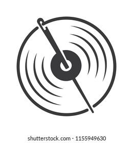 Needle Vynil eye.logo icon vector.