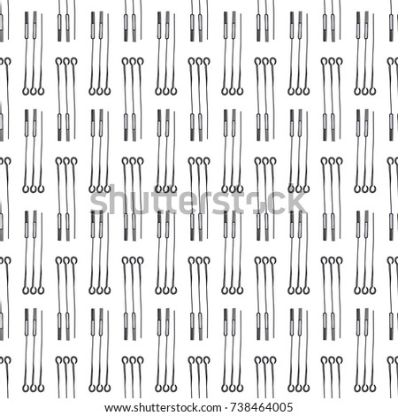 Needles Tattoos Seamless Doodle Pattern Stock Vector (Royalty Free ...