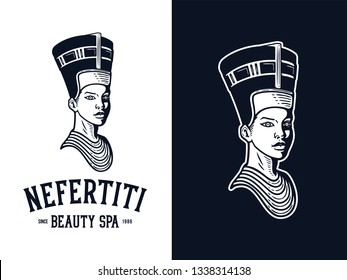 Nefertiti queen is a vector illustration celebrating the famous egyptian ancient beauty.