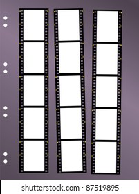 negative film contact sheet, blank frames, space for pix