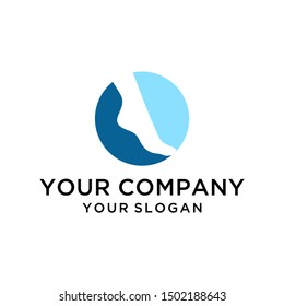 Negative space foot and ankle logo design vector for healthcare company