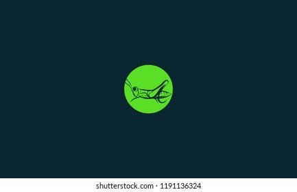 Negative space grasshopper vector for illustration