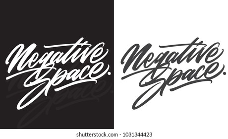 Negative Space hand lettering is perfect for your design artwork - Shutterstock ID 1031344423
