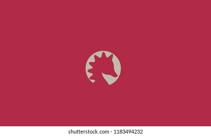 Negative space sea horse vector can be use for logo or illustration