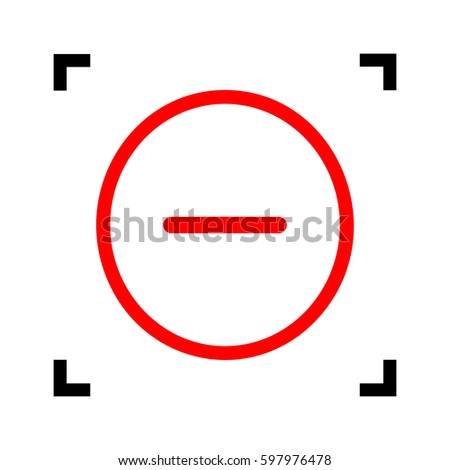 Minus Sign Red White Background Wiring Diagrams