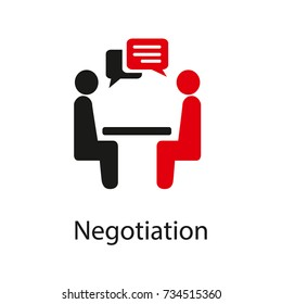 Negotiation Vector Icon. Negotiation Vector Concept. Negotiations Vector Icon.