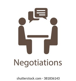 Negotiation Vector Icon. Negotiation Icon JPEG. Negotiation Icon EPS. Negotiation Vector Concept. Negotiations Vector Icon.