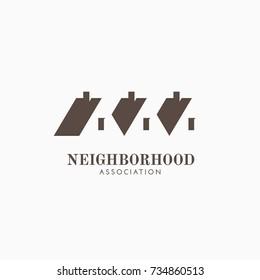 Neighborhood association logo template design. Vector illustration.