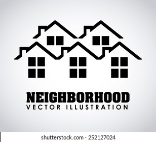 neighborhood design, vector illustration eps10 graphic