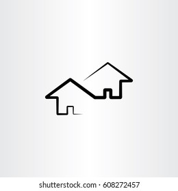 neighborhood house vector design