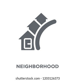Neighborhood icon. Neighborhood design concept from Real estate collection. Simple element vector illustration on white background.
