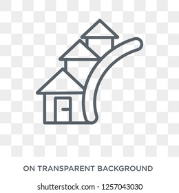 Neighborhood icon. Neighborhood design concept from Real estate collection. Simple element vector illustration on transparent background.