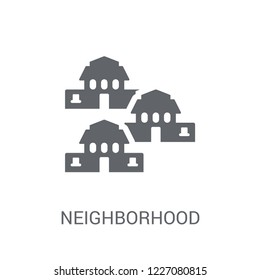 Neighborhood icon. Trendy Neighborhood logo concept on white background from Real Estate collection. Suitable for use on web apps, mobile apps and print media.