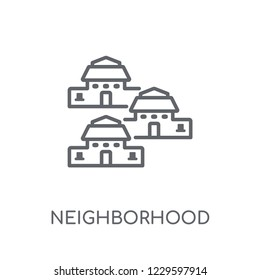 Neighborhood linear icon. Modern outline Neighborhood logo concept on white background from Real Estate collection. Suitable for use on web apps, mobile apps and print media.