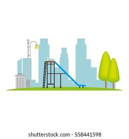 Neighborhood playground place icon