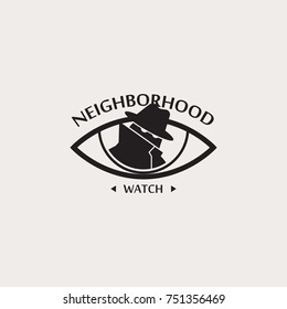 Neighborhood watch warning sign
