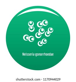 Neisseria gonorrhoedae icon. Simple illustration of neisseria gonorrhoedae vector icon for any design green