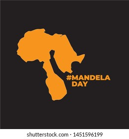 Nelson Mandela day concept art showing strength, unity and power