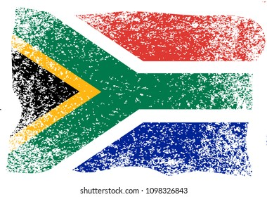 Nelson Mandela International Day. 18 July. The concept of a political holiday. Flag of the Republic of South Africa. Grunge background
