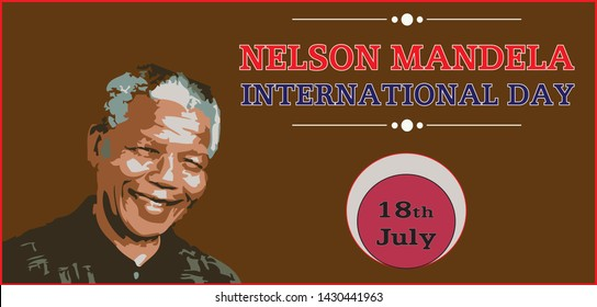 Nelson Mandela International Day 18th July Vector